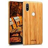 kalibri Xiaomi Mi Mix 2S Hülle - Handy Bambus Schutzhülle - Slim Cover Handyhülle für Xiaomi Mi Mix 2S - Hellbraun
