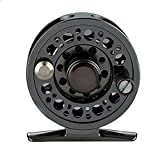 LanLan Fly Fishing Reel Aluminum Alloy Front Wheel Force Relief Light Weight Practical Raft Fishing Reel