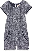 Fat Face Girl's Paisley Overalls, Blue (True Navy), 4-5 Years (Manufacturer Size: 4-5)