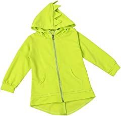 Huhu833 Baby-Kapuzen Mantel, Kinder Oberbekleidung Jacke Dinosaurier Stil mit Kapuze Headwear Mantel Kleidung