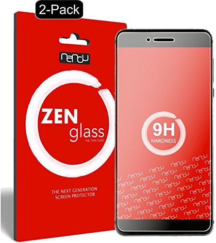 nandu I ZenGlass [2 Stück] Flexible Glas-Folie für Vernee Mars Pro Panzerfolie I Bildschirm-Schutzfolie 9H I (Kleiner Als Das Gewölbte Bildschirm)
