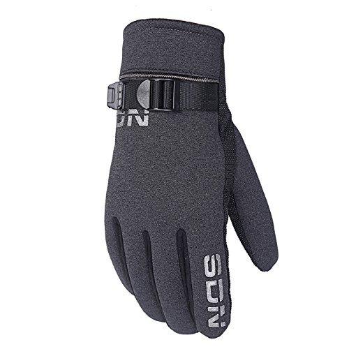 DHG Winter warme Handschuhe Reithandschuhe Männer Baumwollhandschuhe Fahren Outdoor-Handschuhe,J- Schwarze Asche,F