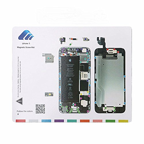 Magnetic Project Matte für iPhone 6/7 Plus Schraube Matte Repair Guide Pad Schraube Keeper Diagramm Karte Professionelle Guide Pad Reparatur - Iphone 4 Mat Schraube