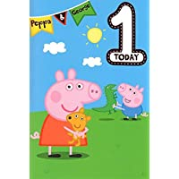 Peppa Pig Age 1 Birthday Card
