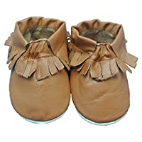 Shoozies Soft Leather Baby Shoes for Boys and Girls Brown Winter Boots