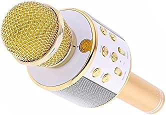 Piqancy Wireless WS-858 Bluetooth Portable Handheld Singing Machine Condenser Microphones Mic Compatible with Tablet PC Smartphone