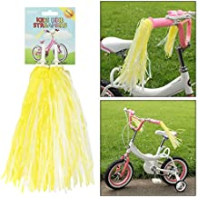 AMOS Bicycle Bike Streamers Cycle Tricycle Trike Scooter Kids Girls Childrens Handlebar Grips Sparkle Retro Pom Pom Tassels Ribbons 2 Pack