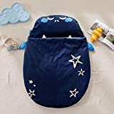 DIVAND Baby Sleeping Bag, Safe Nights Cotton Baby Sleep Bag 0-18 Monate Cute Baby Girls Sleeping Sack Swaddle Newborn Wrap Blanket,Blue