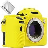 First2savvv Gelb TPU Gummi Ganzkörper- Präzise Passform Kameratasche Fall Tasche Cover für Sony ILCE Alpha a7 II a7R II a7S II .A7M2 - XJPT-A7II-GJ-13G11