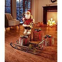 Weihnachtsdeko 1000419 Schlitten Dekoschlitten Metall