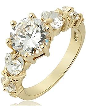 Riva Damen Ringe 18K Gold Vergoldet Topas Farbe Edelstein Hochzeit Modeschmuck