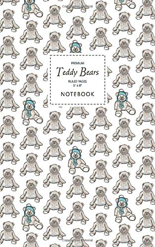 Teddy Bears Notebook - Ruled Pages - 5x8 - Premium (White)