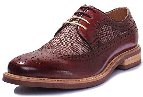 Chaussures pour hommes imprimé tweed - Justin Reece Wine GF1