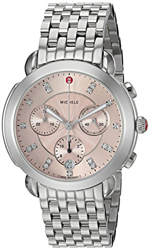 MICHELE Women's Swiss Quartz Stainless Steel Casual Watch, Color Silver-Toned (Model: MWW30A000018)