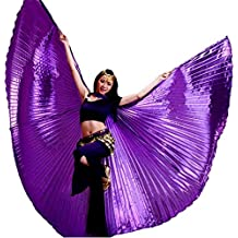 Danza Ropa & Accessories ISIS Wings alas Velo Danza del Vientre Belly Dance Disfraz Samba Danza