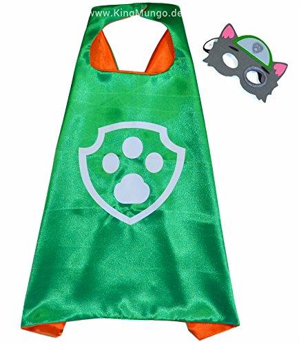 e und Maske - Superhelden-Kostüme für Kinder - Kostüm für Kinder von 3 bis 10 Jahre - für Superheld Mottopartys! Spielsachen für Jungen und Mädchen - King Mungo - KMSC013 (Rocky Halloween-kostüm)