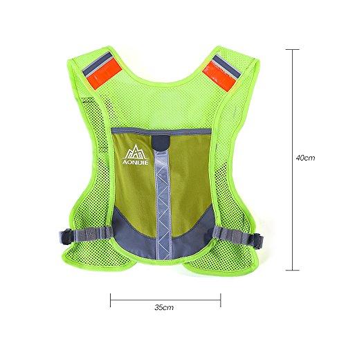 Lixada Hydratation Weste Rucksack/Sport Reflektierende Weste für Trailrunning/Marathon(Mit 2 * 170ml Flasche (Optional)