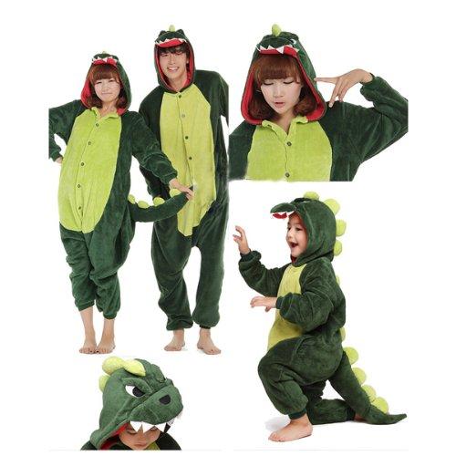 DOING Kinder und Erwachsene Schlafanzug Hausanzug Dinosaurier Pajamas Pyjamas Ganzkörperpyjama,Schlafanzug, Einteiler, Schlafoverall, Erwachsenenstrampler, Kostüm (D)