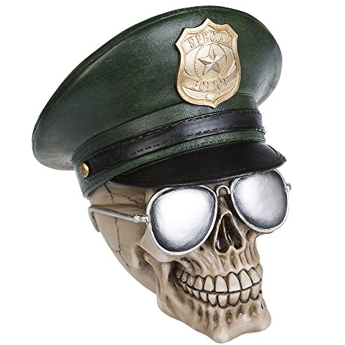 Deko Totenschädel Totenkopf Skull USA Police Cop Gothic -