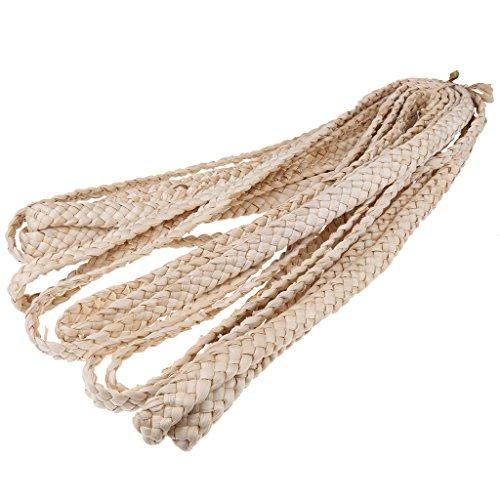 MagiDeal Natürliche Mais Hülse Stroh Braid Ribbon für Puppe Hut Handwerk Making - 2,5 cm (Tote Natürlichen Stroh)
