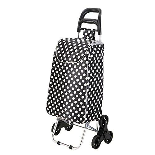 LXF Treppenhaus-Einkaufstasche-Faltbare Tragbare aufgefüllte Wasserdichte Taschen-Aluminiumlegierung-Stille Rad-Karren können 50kg Gewicht tolerieren (Farbe : C)