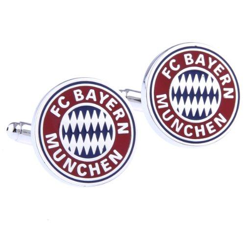 FC Bayern München Fußballclub Manschettenknöpfe + Geschenk-Box
