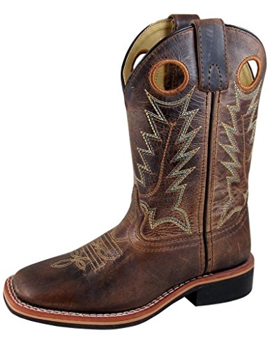Smoky Mountain Boys Brown Distressed Jesse Square Toe Western Cowboy Boot
