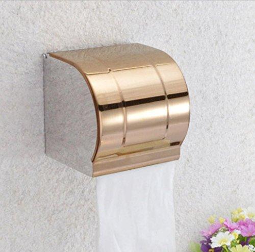 Thicker scatola carta igienica vassoio rotolo titolare di carta igienica in acciaio impermeabile a colori, acciaio inossidabile 12.5 * 12.5 * 12.5CM