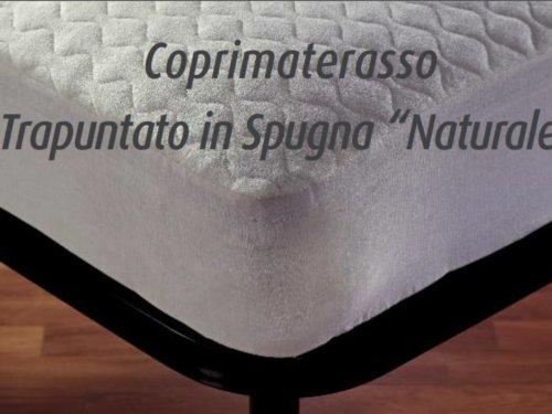 Coprimaterasso Cortina trapuntato in spugna naturale a cappuccio Demaflex singolo