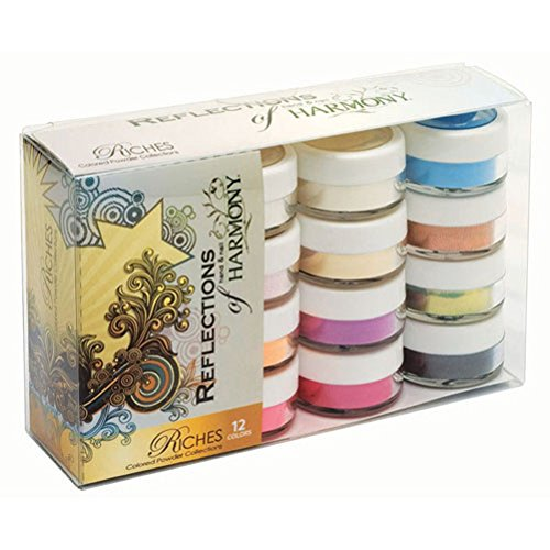Harmony Reflections - Colored Acrylic Powders - Riches Collection - 12pc Kit