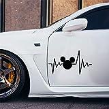 Xcm Disney Life Heart Beat Mignon Et Intéressant Autocollant De Mode Stickers Voiture Wrap Autocollant De Voiture Décor Stickers Pour Voiture Ordinateur Portable Fenêtre Autocollant