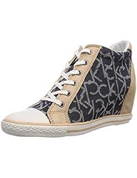 Calvin Klein Jeans RICHELLE CKJ JACQUARD/GROSGRAIN - Zapatos con cordones de lona mujer, color azul, talla 35