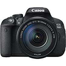 Canon EOS 700D Fotocamera Reflex Digitale, 18 Megapixel, con Obiettivo EF-S 18-135mm IS STM, Nero