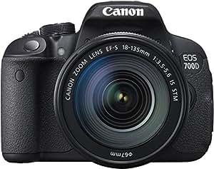 """Canon 700D Appareil photo numérique compact 18 Mpix Écran LCD 3"""" Zoom optique 7,5X Noir"""