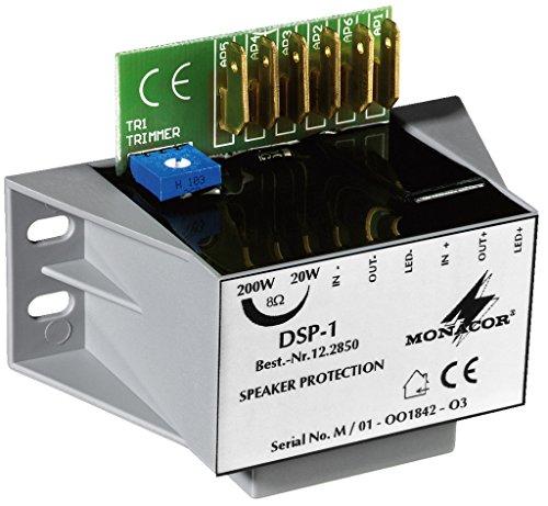 dsp hifi MONACOR DSP-1 Mono-Lautsprecher-Schutzmodul, Gegen Überlastung von Mittel- und Hochtonlautsprechern aller Impedanzen durch Überpegelspitzen