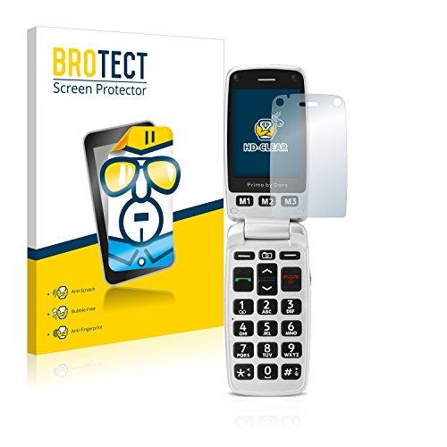 BROTECT Schutzfolie kompatibel mit Doro Primo 413 [2er Pack] - kristall-klare Bildschirmschutz-Folie, Anti-Fingerprint