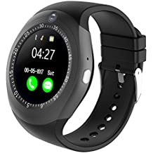 Kivors Bluetooth Smartwatch, Classic Ronda de IPS Pantalla Táctil Reloj Inteligente con Tarjeta SIM y