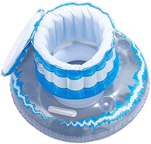 infactory Wasserspielzeug: Schwimmende Kühlbox mit Deckel und Becherhaltern, aufblasbar (Pool Bars)