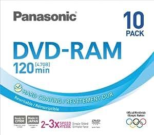 Panasonic 3x speed, 4.7GB, 10 pack DVD-RAM Disc