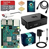 ABOX globmall Raspberry Pi 3 Model B + (B Plus) Starter Kit mit 32 GB Class 10 Samsung Evo + Micro SD Card, Handy und Power Supply 5 V 2.5 A mit Schalter