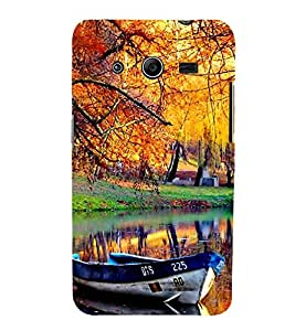 Boat in Nature Park 3D Hard Polycarbonate Designer Back Case Cover for Samsung Galaxy Core 2 G355H :: Samsung Galaxy Core II :: Samsung Galaxy Core 2 Dual
