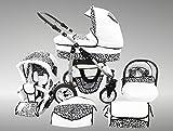 Chilly Kids Dino poussette combinée Set - été (parasol, siège auto & adaptateurs,...