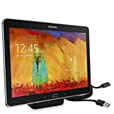 kwmobile Docking Station Compatibile con Tablet Samsung Apple - Stazione di Ricarica Tab Pad Micro USB - Base Caricabatteria Universale Antiscivolo - Nero