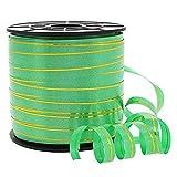 Présentoirs pour Bijoux Emballages Bolduc 8 mm Ruban Papier Cadeau rayé 250 mètres Vert