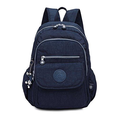 Gurscour Rucksack Handtasche für Frauen,Damen Schultasche Kleine Leichte Nylon Wasserdichte Multi-Taschen Uni Freizeit Starke Daypack Rucksack für Mädchen - Nylon-leichter Rucksack