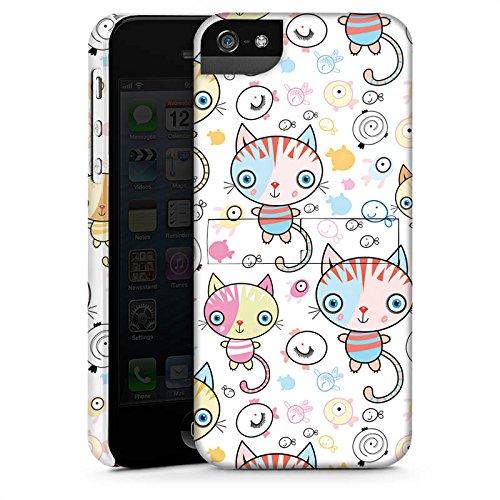 Apple iPhone 4 Hülle Case Handyhülle Katze Kids Kinder Premium Case StandUp