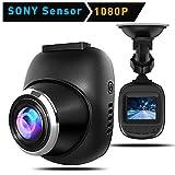 HiGoing Dashcam Auto Kamera, Full HD 1080P Dashboard Kamera für Fahrzeuge mit Sony Sensor Super Night Vision, 170° Weitwinkelobjektiv, WDR, Loop Aufzeichnung, Parkplatz Monitoring und G-Sensor