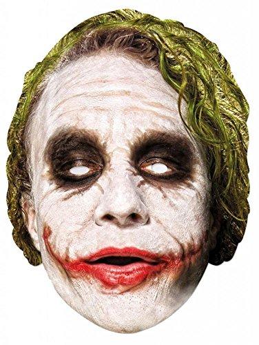 Party-Maske aus hochwertigem Karton Funny Masks Celebrity Pappe Prominente Politiker Batman, Variante:Joker