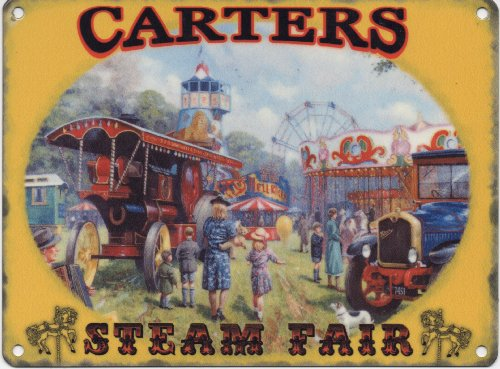 min10426-kevin-walsh-nostalgia-collection-carters-steam-fair-metal-advertising-wall-sign-plaque