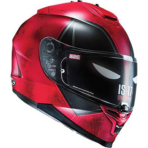 HJC IS-17, Casco integrale da moto, Deadpool, edizione limitata Marvel
